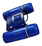 Kids Binoculars - Childrens Set with Case and Strap - For Boys and Girls Bird Watching, Hunting, Astronomy, Field - Real 8x22 Folding Kit - Small Compact Blue Toy Play - Outdoor Presents and Gifts