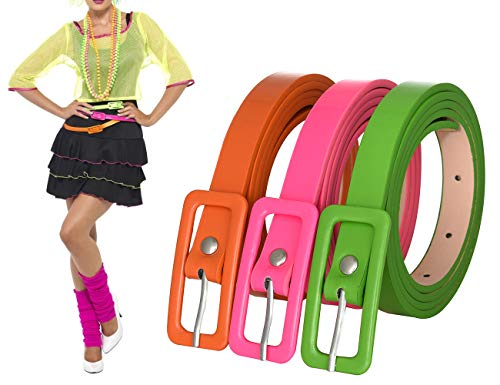 3 Pack Covered Buckle Neon...