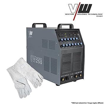Sudor dispositivo AC/DC Wig ow250 Pulso M. Plasma aluminio Inverter TIG MMA Set