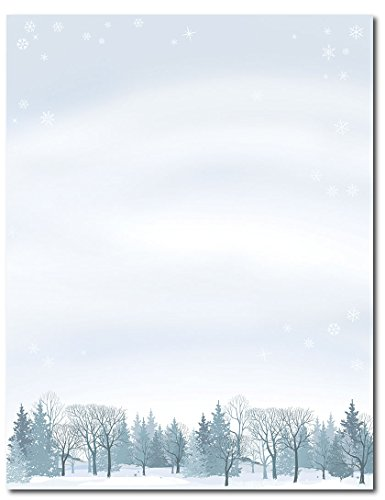 Great Papers! Winter Wonderland Letterhead, 80 count, 11