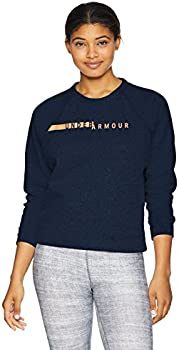 UA Rival Fleece Crew Womens Long Sleeve Shirt