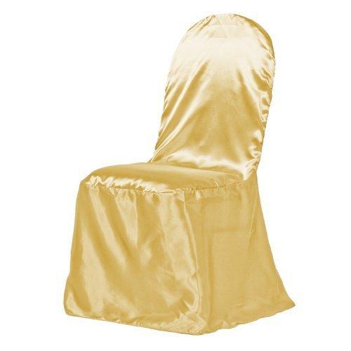 LinenTablecloth Satin Banquet Chair Cover Gold