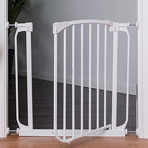 Costzon Baby Safety Gate, Easy Step Walk Thru Gate, White (Fits Spaces Between 28.5