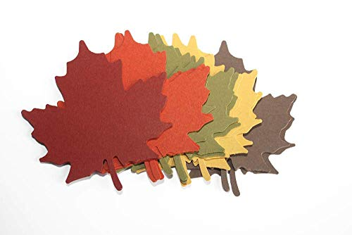 25 Paper Maple Leaf Cuts Outs - Die Cut Maple Leaves - Autumn Party Supply