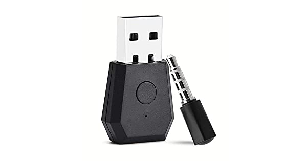 Facmogu Wireless Bluetooth Adapter USB Adapter Bluetooth Transmitter for PS4 Playstation Bluetooth 4.0 Headsets Receiver Headphone Dongle