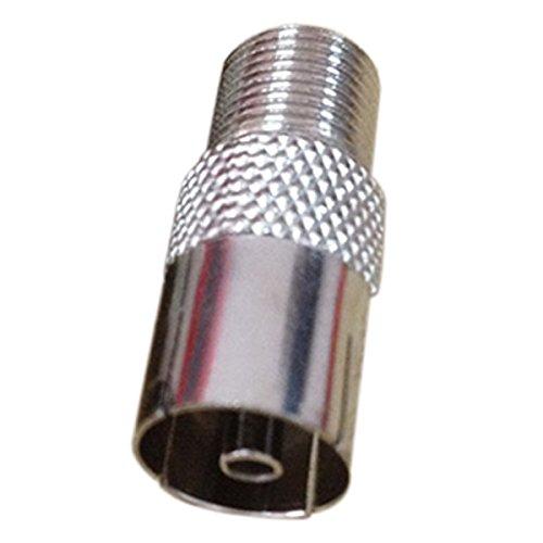 SODIAL(R) Screw on F Socket Female to TV Aerial FEMALE Coax Adaptor/Connector