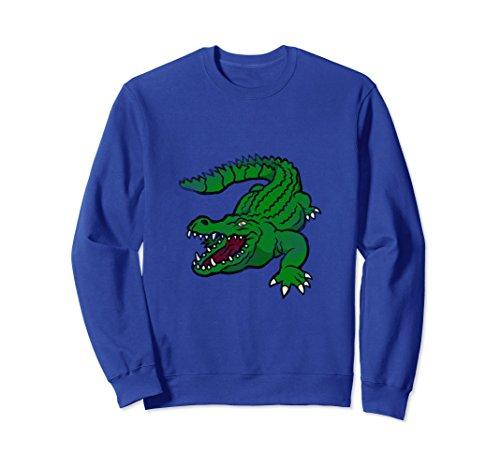 Kids Crocodile Hunter Costume (Unisex Danger Alligator Sweatshirt Crewneck Gator Crocodile Gift 2XL Royal Blue)