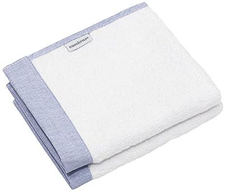 Cambrass Denim - Juego de dos toallas, 25 x 35 cm, color azul: Amazon.es: Bebé
