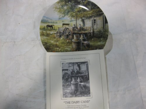 Toys+ The Dairy Cans Collectible Plate Sixth Issue in Country Nostalgia, A Celebration of Rural Life by Artist Maurice Harvey by W.S. George Fine China