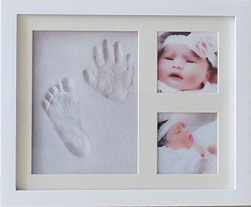 DiMOD Baby Handprint & Footprint Photo Frame Kit for Boys and Girls Baby gifts for room and wall -