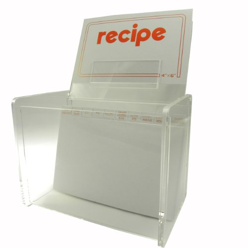 (4x6 Clear Recipe Card File Box By Huang Acrylic)
