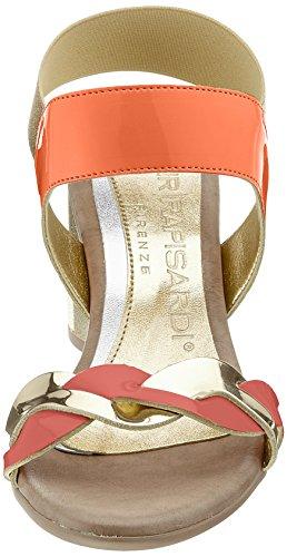 Nr Rapisardi Damen Willo Slingback Arancione Sandali (arancione / Oro Ecopatent)