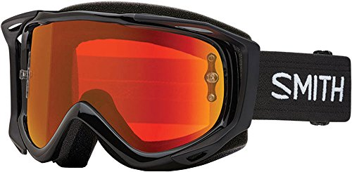 Smith Optics Fuel V.2 Adult Off-Road Goggles - Black/Chromapop Everyday Red Mirror/One - System Roll Off Smith
