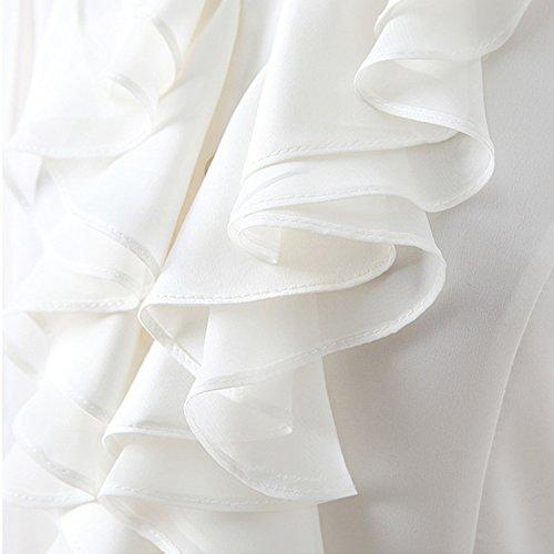 Nonbrand - Camisas - Button Down - Básico - con botones - para mujer blanco