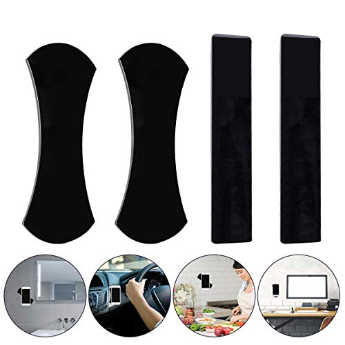 (Audew Sticky Gel Pad, Sticky Phone Holder for Car, Mobile Phone Dash-Mounted Holder, Cell Phone Stand Sticker, Nano Rubber Pads Car Mount Anti-Slip Stick to Anywhere (4pack) )