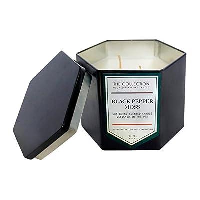 Hexagon Black Tin Candle - Black Pepper Moss - 11oz -  - living-room-decor, living-room, candles - 41dxWjHXcAL. SS400  -