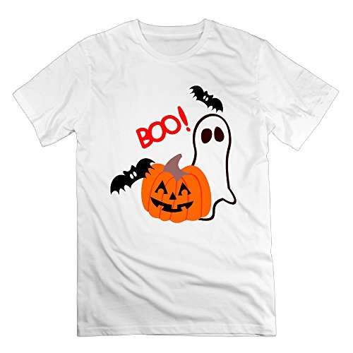 NOAC Men's Halloween Pumpkin Cartoon Boo! Political Short Tshirts ()