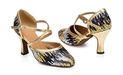 Donna Heel Joymod 8cm Gold Black Sala MGM 1OzB0
