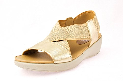 Easy Spirit Womens Sandalo Oro Wiley, Taglia 7.5 W Us