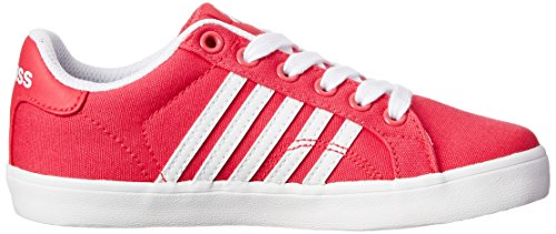 K-Swiss Belmont Textile PS Tennis Shoe (Little Kid) Raspberry/White