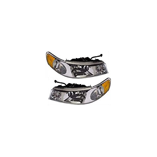 Halogen Headlight Set for 1998-2002 Lincoln Lincoln Town Car Left & Right w/Bulb(s) Pair