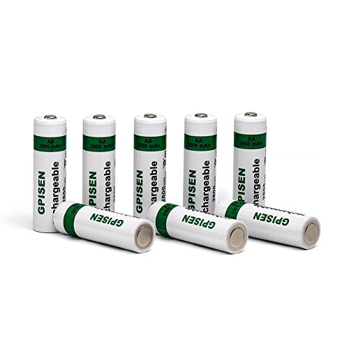 Nimh Cycle Energy Aa Batteries (GPISEN AA 2800mAh Ni-MH Rechargeable Batteries 8 Pack)