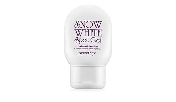 Secret Key - Snow White Spot Gel - aufhellungs Gel para cara y cuerpo con extracto de aloe vera y portulak contra manchas oscuros, edad manchas y zonas piel ...