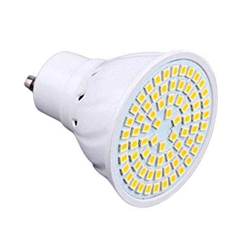 SRY-LED GU10 72LED 7W 2835SMD 600-700Lm 4000-4500K Natural White LED Spotlight AC 110-130V 1PCS ()