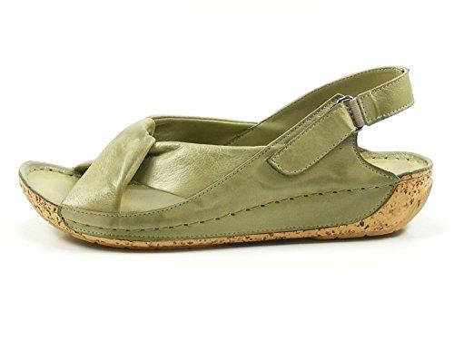 Mujer Gemini De Fashion 02 Verde 32024 Cuero Sandalias Pqwq4nOzY