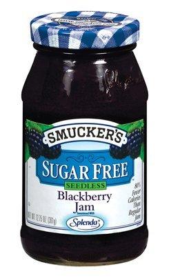 Smucker's Sugar Free Seedless Blackberry Jam 12.75oz Jar (Pack of 3)