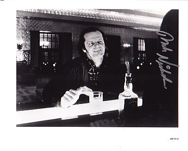 [Jack Nicholson Signed Autographed Shining Ghost Bar 8 x 10 Glossy Photo] (Signed Photo Bar)
