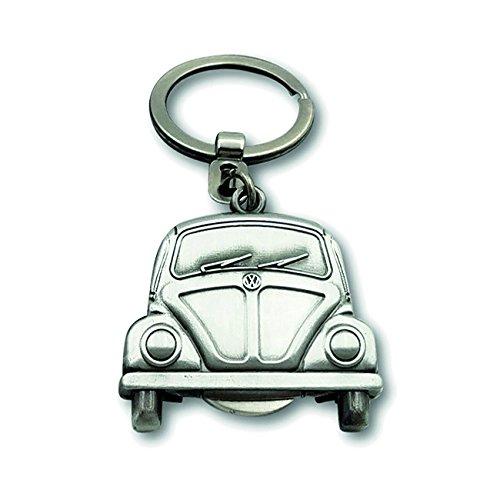 best VW Collection by BRISA Porte-clés dans le classique VW Coccinelle, aspect argent antique avant