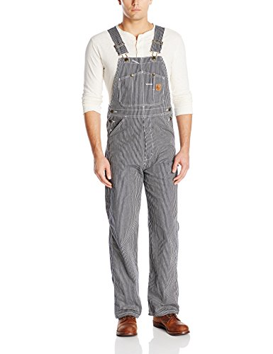 Berne Men's Big-Tall Original Unlined Bib Overall, Hickory Stripe, 48x32
