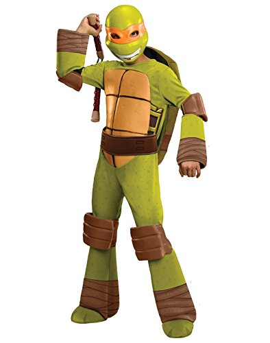 Kids Michelangelo Mask Costumes (Teenage Mutant Ninja Turtles Deluxe Michelangelo Costume,)
