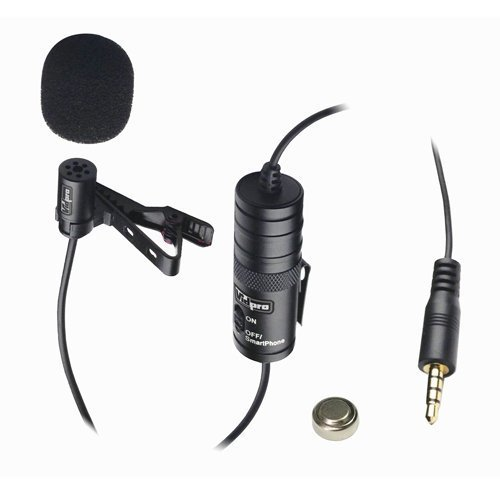 Canon EOS Rebel T5i Digital Camera External Microphone Vidpro XM-L Wired Lavalier microphone - 20' Audio Cable - Transducer type: Electret Condenser by VidPro