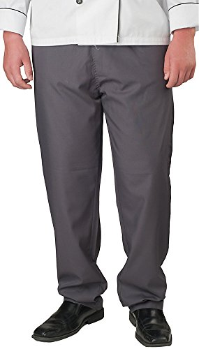 KNG Men's Active Chef Baggy Pant, Slate, 3XL by KNG