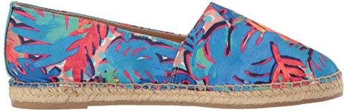 Sam Edelman Women's Laila Moccasin, Cashmere, US Blue/Multi Palm Print