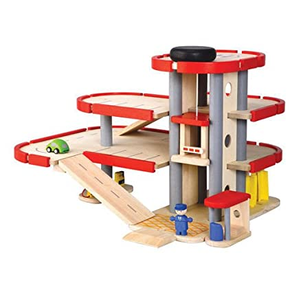 Amazon Plan Toys City Series Parking Garage Toys Games – Plan Toys Garage Road System