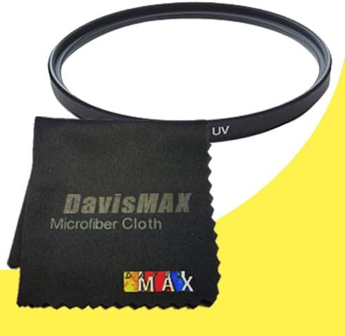 77mm UV Filter for Sony Alpha SLT-A37 with Sony 24-70 f//2.8 Carl Zeiss Lens DavisMAX Fibercloth Filter Bundle