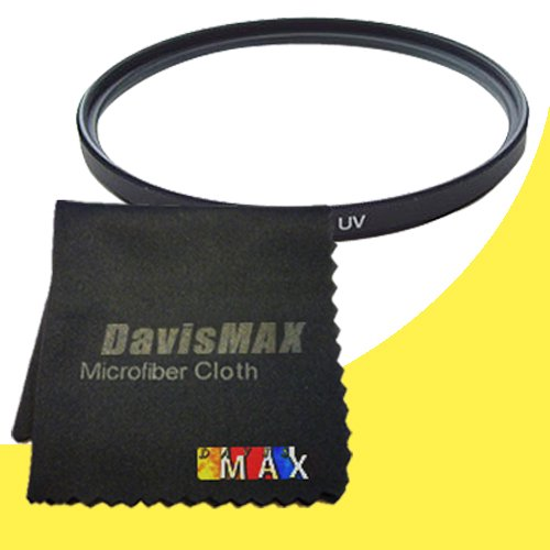 67mm UV Filter for Sony Alpha NEX-3N with Sony 18-200 f/3.5-6.3 Telephoto Lens + DavisMAX Fibercloth Filter Bundle (18200 E Mount)