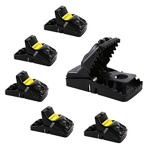 AUTENS Mouse Trap, Snap Rat Trap That Work Outdoor Indoor Best Mouse Trap Powerful Sensitive Effective Killer Catcher for Rats, Mice, Rodents, 6 Pack