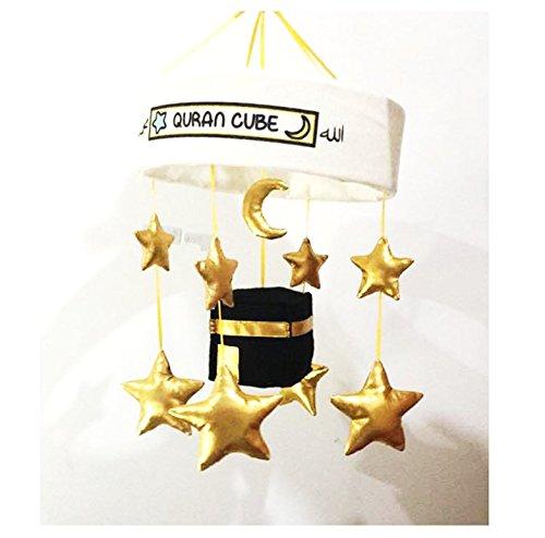 Corán cubo Kaaba islámica Corán y nasheeds cuna funda para Quran Cube