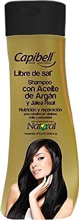 Amazon.com : Capibell- shampoo Aceite de argan y jalea real ...