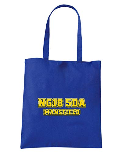 Blu MANSFIELD Shopper POSTCODE DESIGN WC1264 Borsa Royal TOWN RwzHqxf