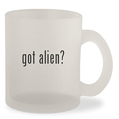 got alien? - Frosted 10oz Glass Coffee Cup Mug - Ancient Gear Workshop