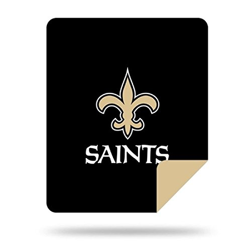Officially Licensed NFL New Orleans Saints Denali Silver Knit Throw Blanket, Old Gold, 60