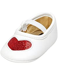 Baby Girls Heart Pattern PU Leather Soft Sole Crib Shoes Moccasins