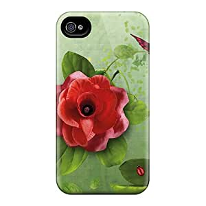 New SashaankLobo Super Strong Red Roses Strawberries Cases Covers For Iphone 6