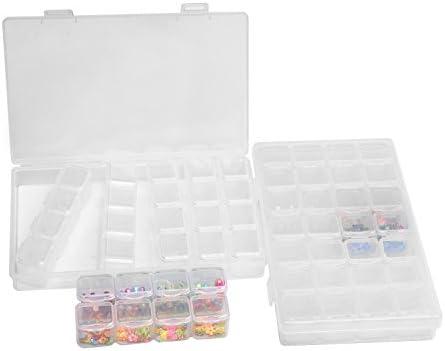 Joyería Organizador 2 Paquetes 28 Compartimentos Ajustable Caja de ...