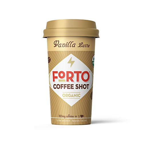 FORTO Coffee Shots - 100mg Caffeine, Vanilla Latte, Ready-to-Drink on the go, Cold Brew Coffee Shot - Fast Coffee Energy Boost, 12 Pack